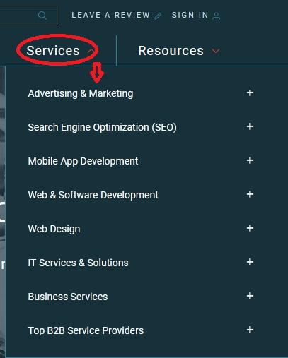 Company service category